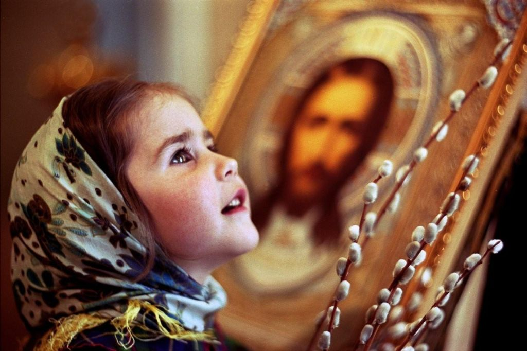 ребенок и икона