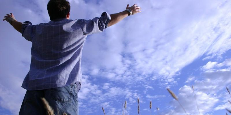 человек и небо