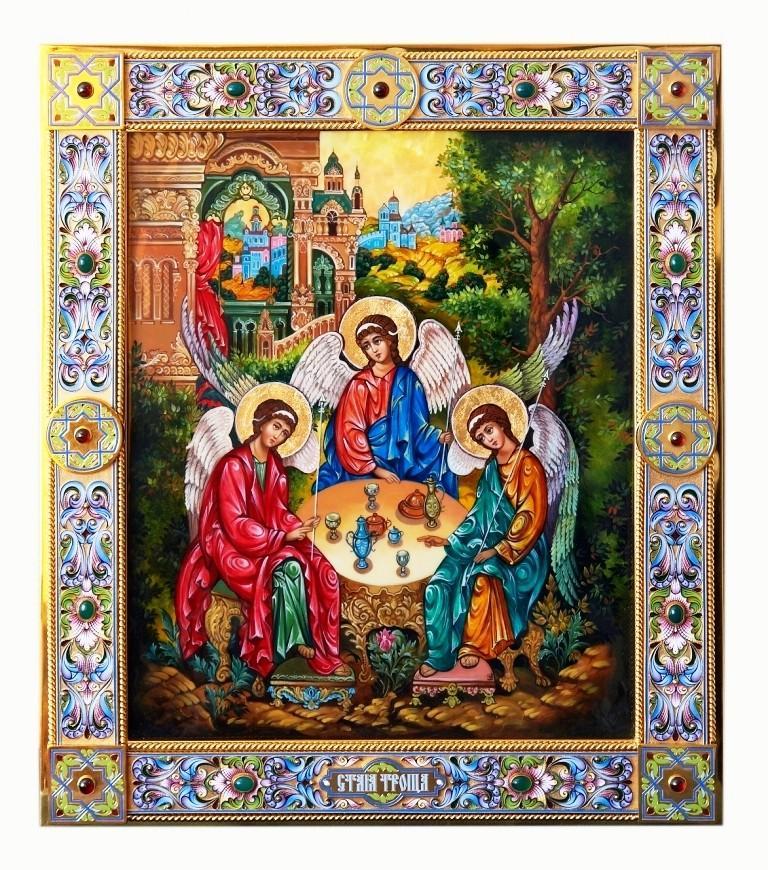 троица икона Тициан