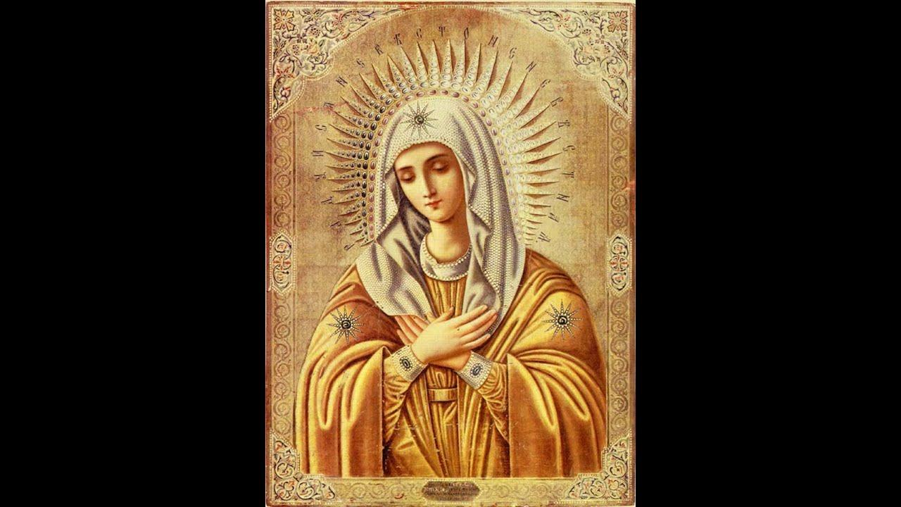 канон молебный ко пресвятой богородице