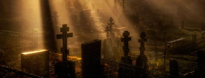кресты на кладбище