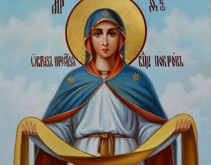 икона пресвятой богородицы покрова