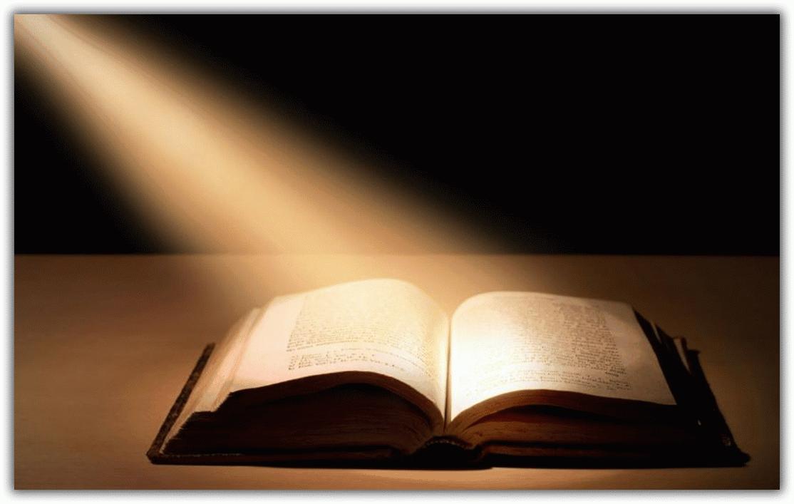 свет на книге
