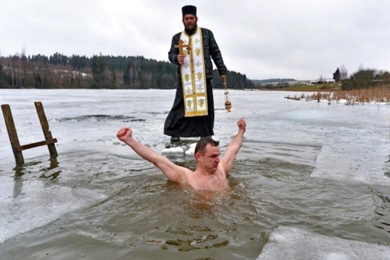 купание в прорубе