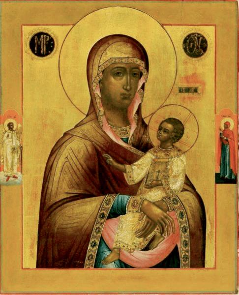 Богородица с Федором и Георгием в Риме