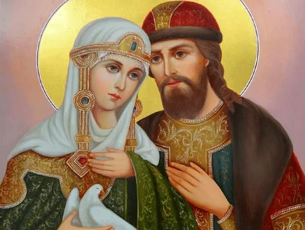святые на иконе