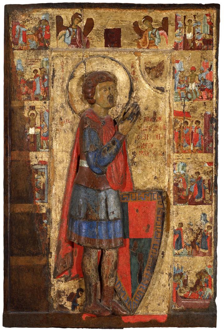 Рельефная икона святого Георгия