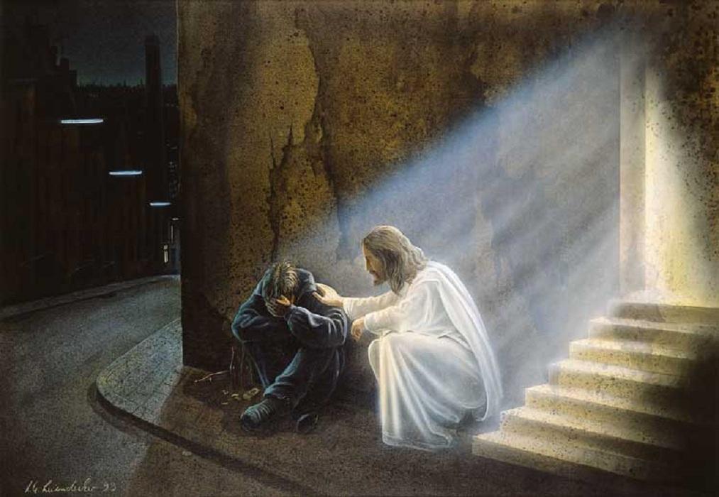 человек молиться
