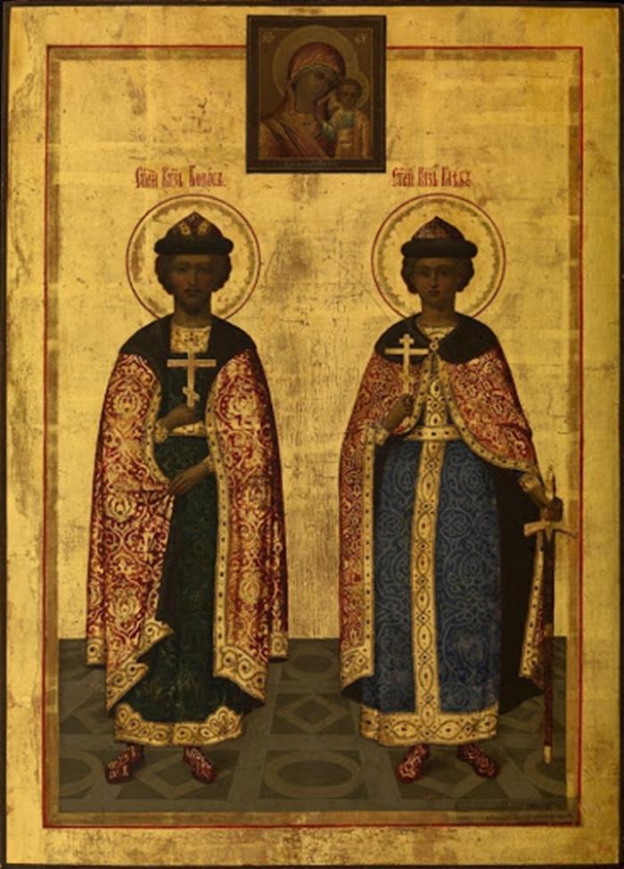 Икона Борису и Глебу