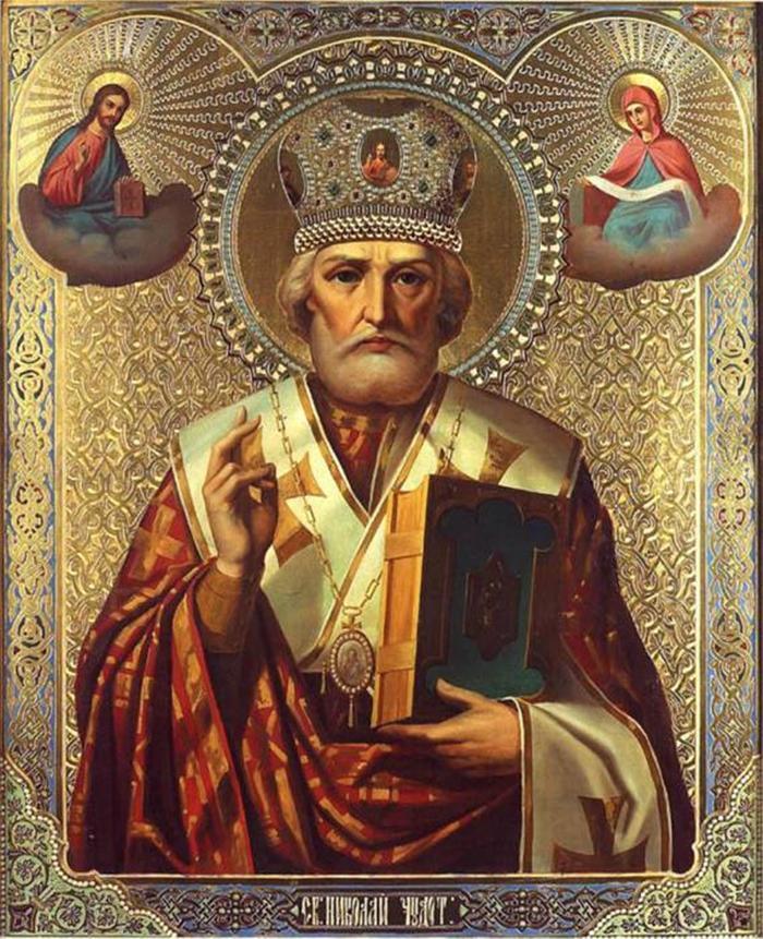 Николай Чудотворец икона новая