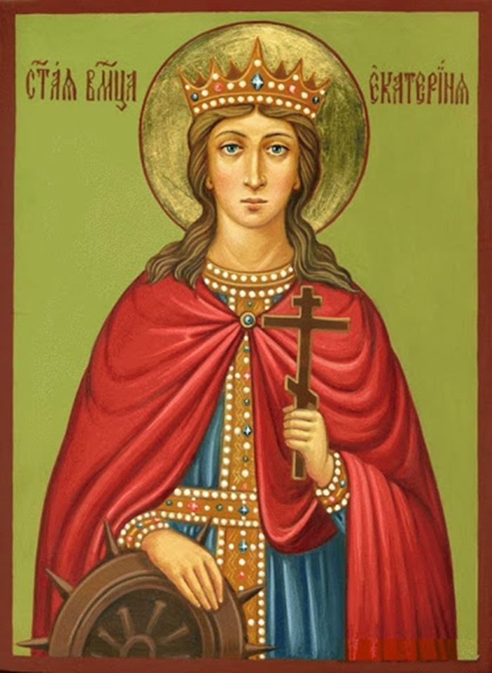 святая екатерина старая икона фото