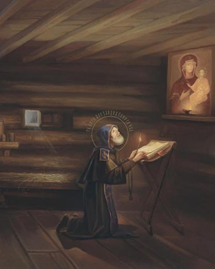 александр свирский молится на икону