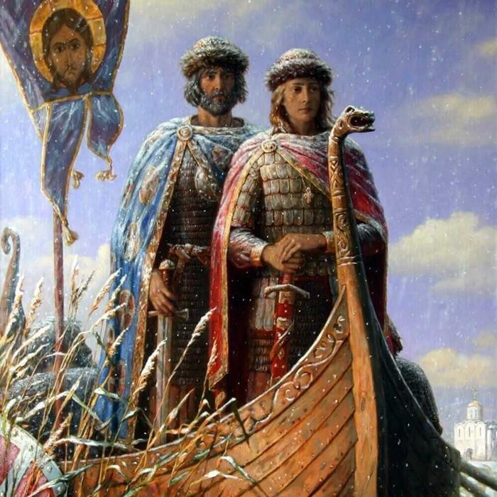 Икона Борису и Глебу фото