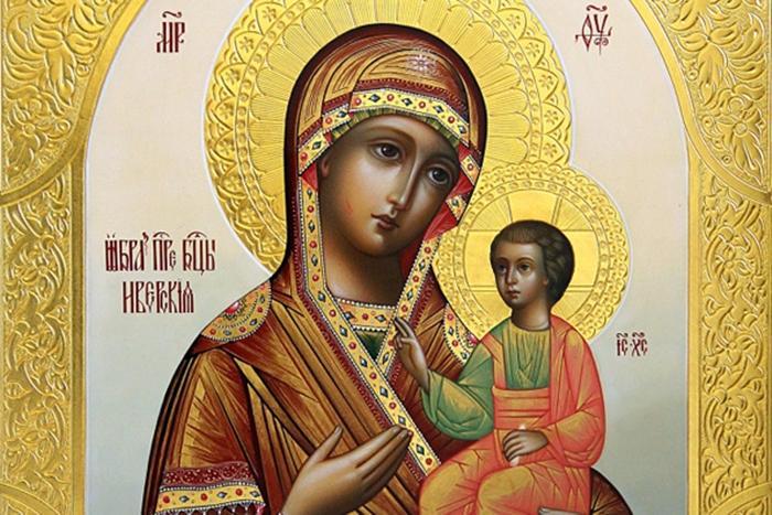 Фото Икона иверской иконе божией матери