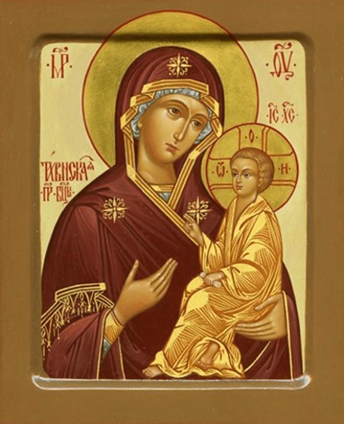 икона тихвинской божьей матери фото