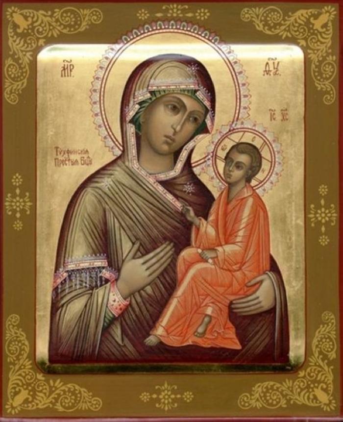 икона тихвинской божьей матери картинка