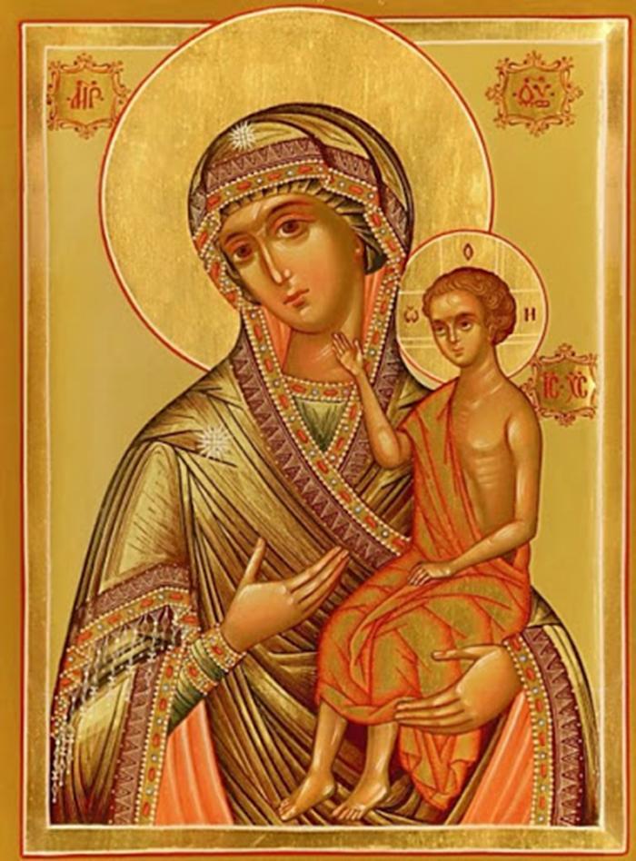 Воспитание икона Божьей Матери