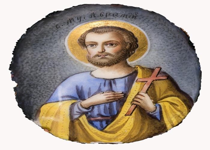 икона Авраамия Болгарского круглая