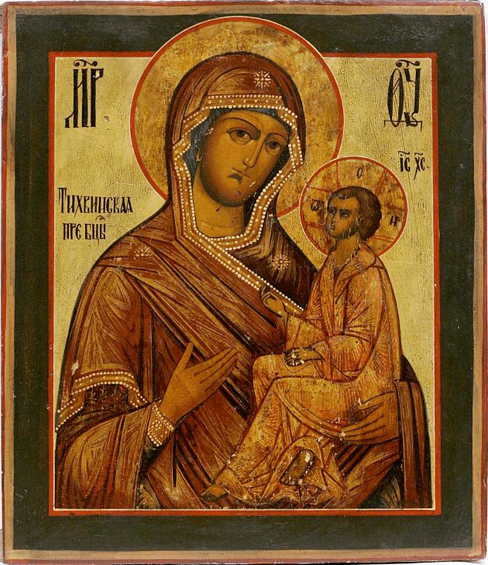 тихвинская божья мать икона