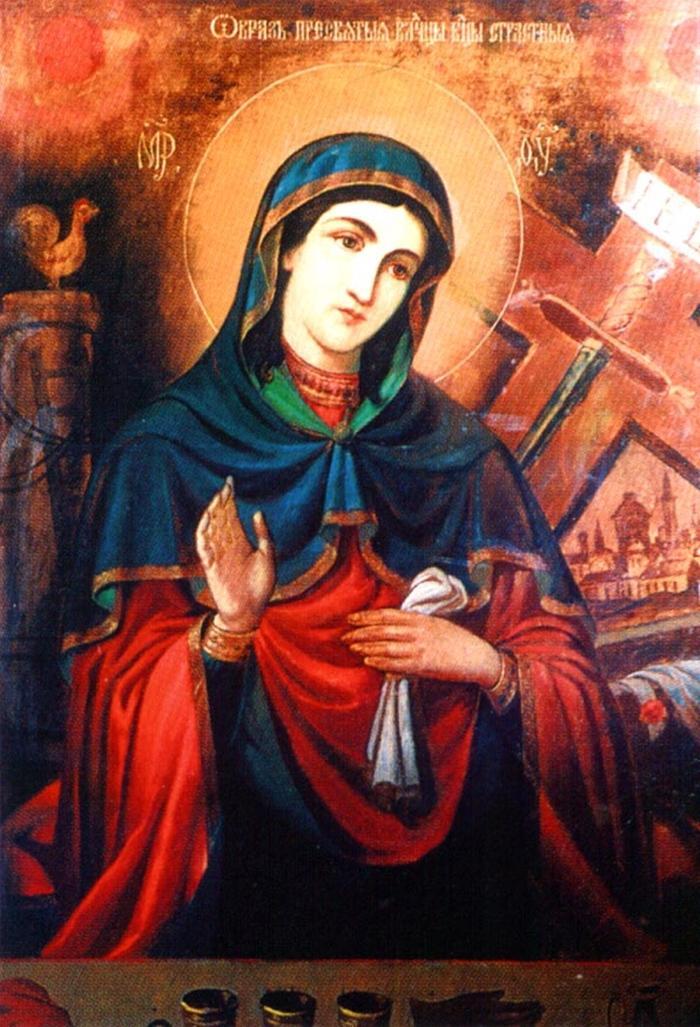 Икона страстной иконе божией матери