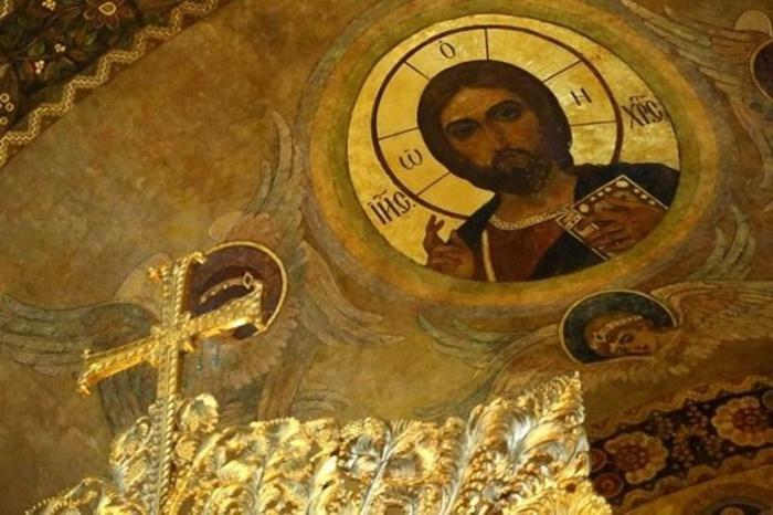 Рисунок в церкви