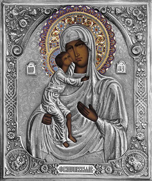 феодоровская божья матерь икона украшенная