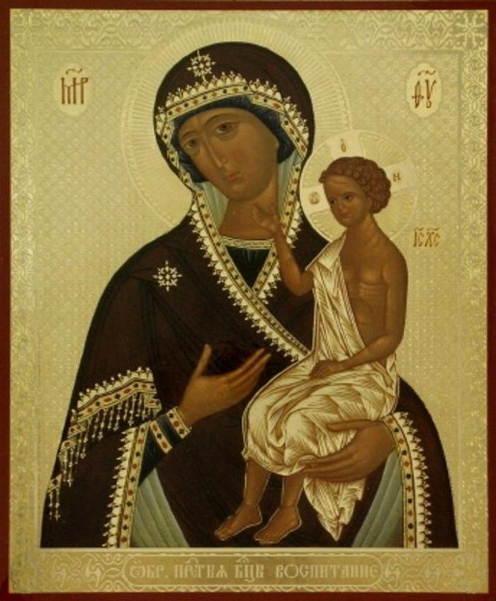 Икона Воспитание Божья матерь