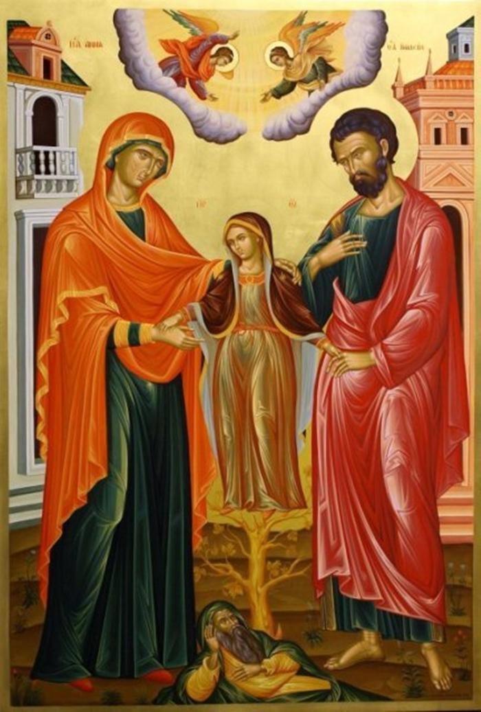 икона иоакиму и анне и дева мария фото
