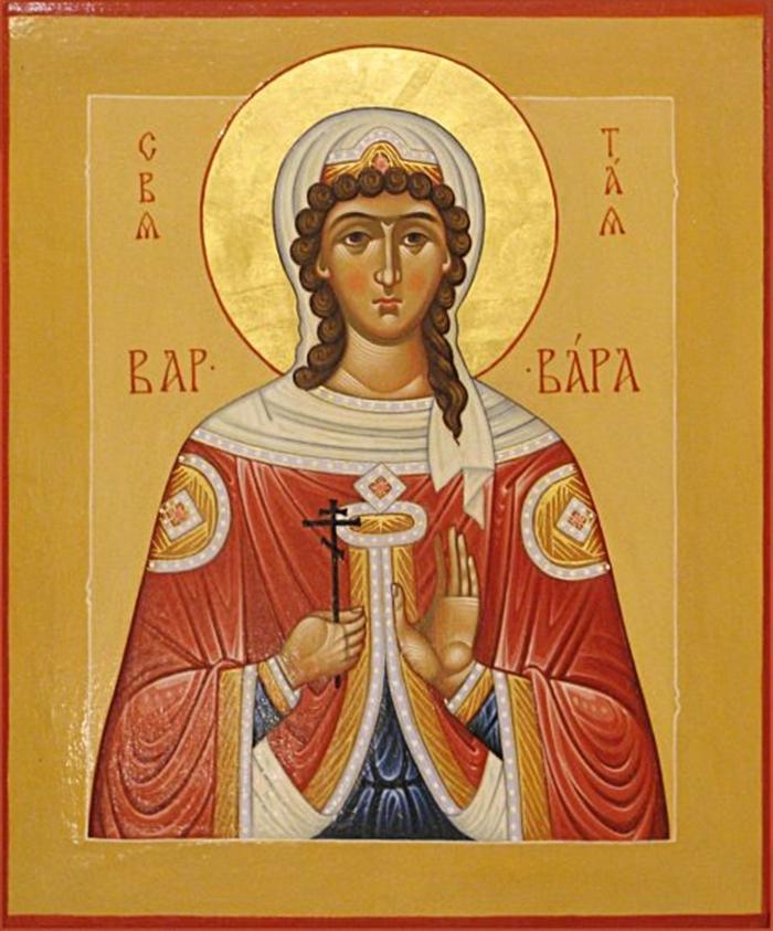 икона варваре великомученице