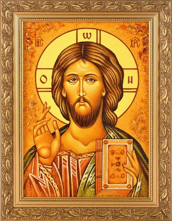 икона идущего в церковь Иисус
