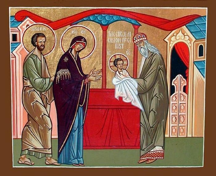 Обрезание Господне икона фото