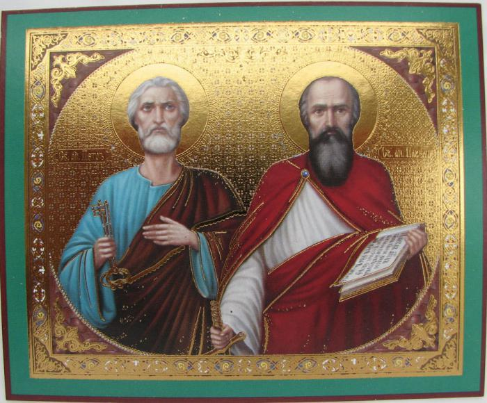 икона апостолов Петра и Павла фото