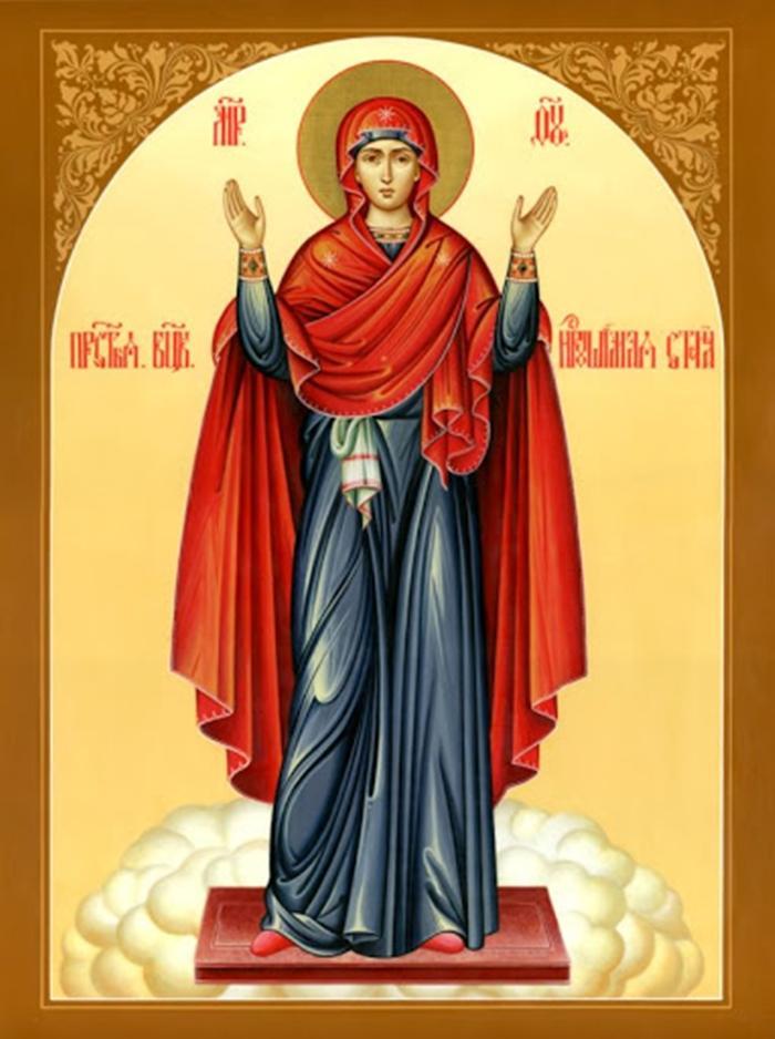 иконой Богородицы «Нерушимая стена» вторая