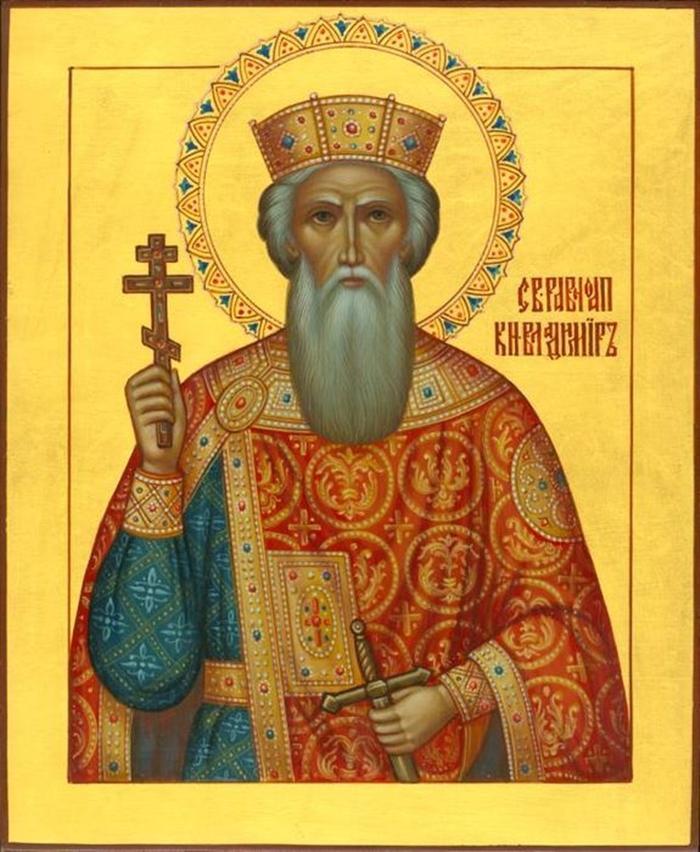 икона Равноапостольному князю Владимиру