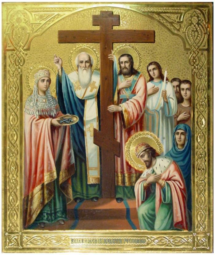 икона Животворящему Кресту