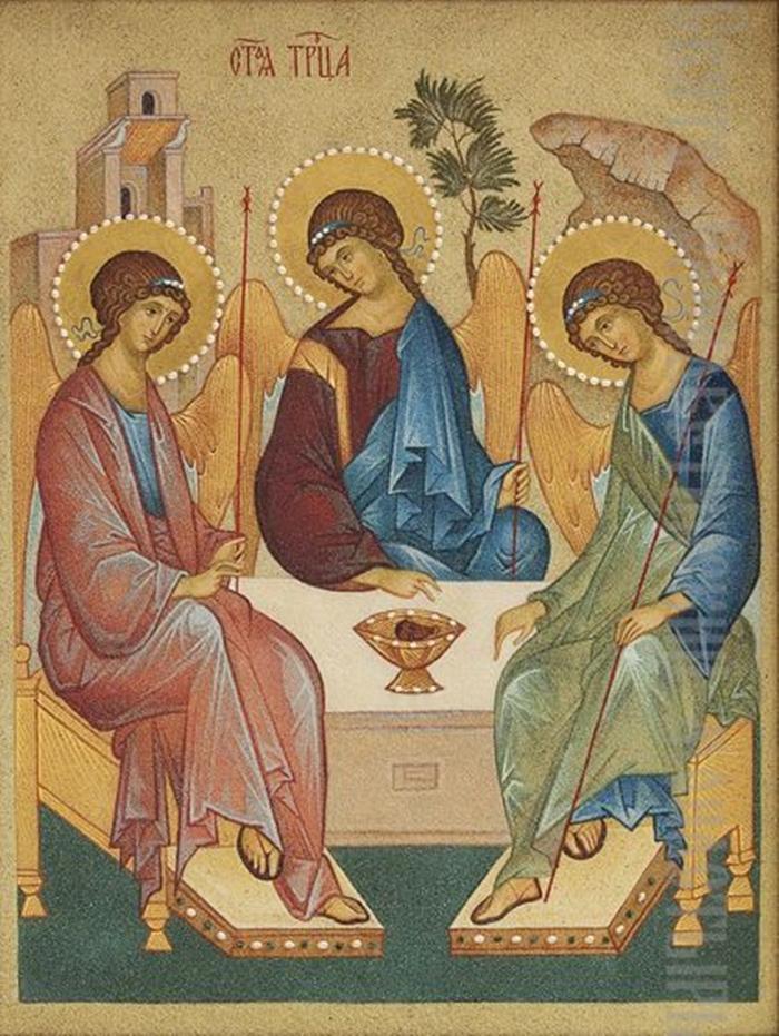 икона троице