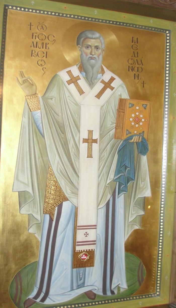 икона амвросий медиоланский