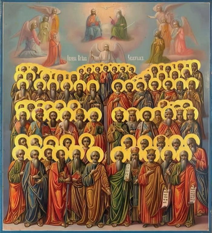 икона Всем святым и бесплотным небесным силам