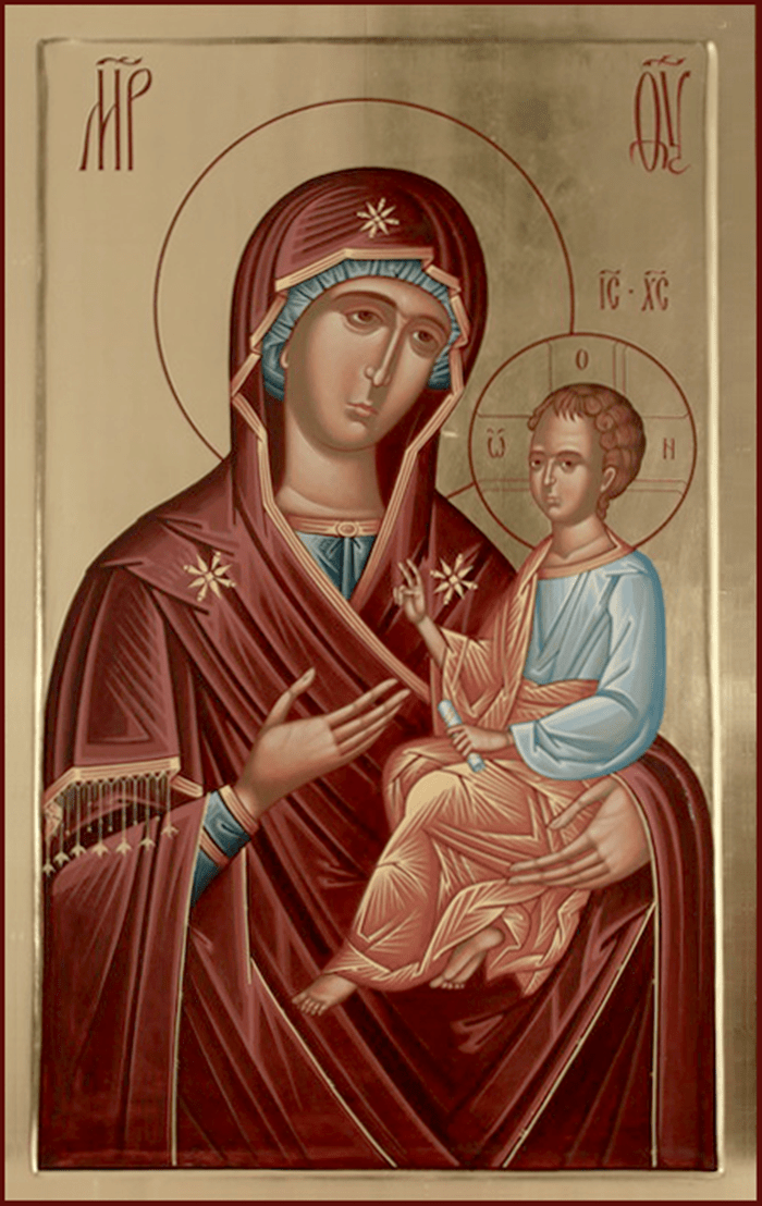икона ко пресвятой Богородице