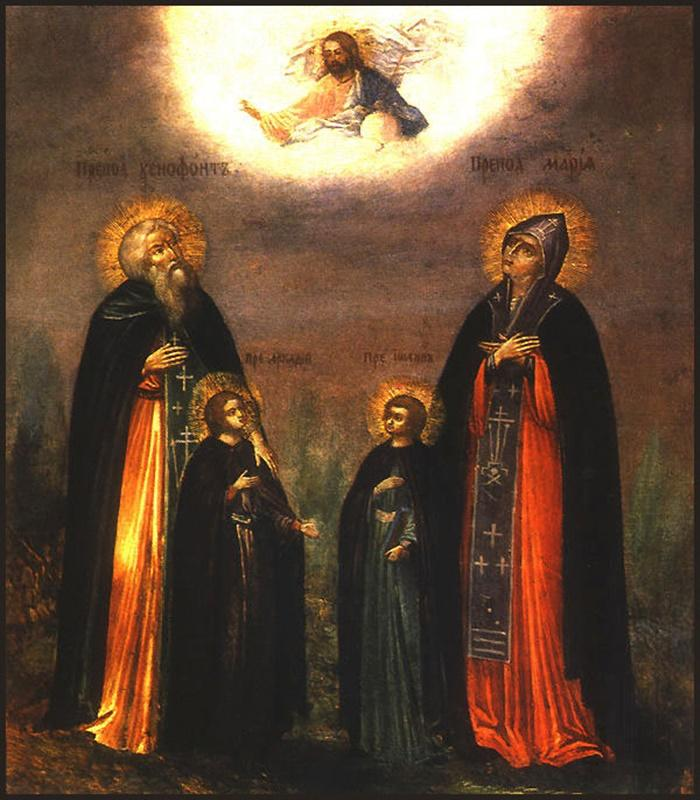 икона Преподобным Ксенофонту и супруге его Марии