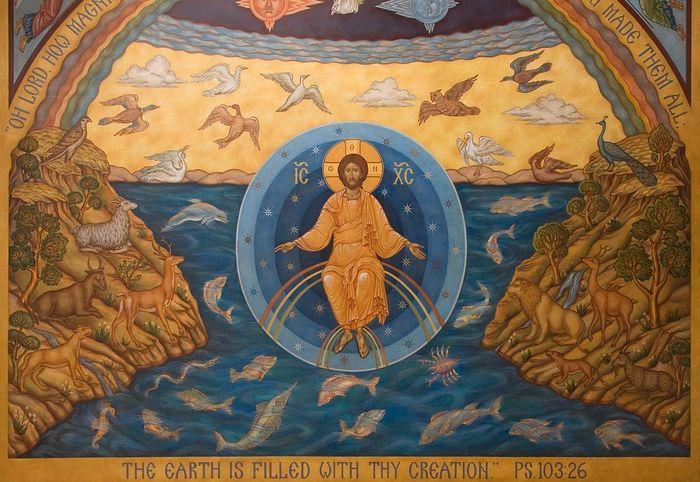 икона сотворение мира