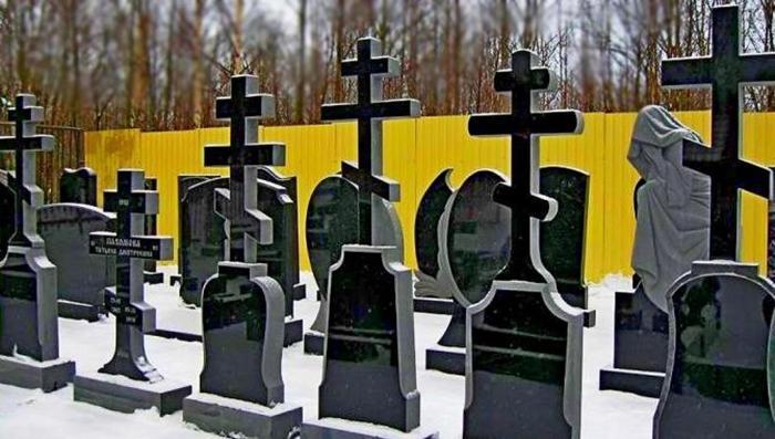 где ставится крест на могиле у православных