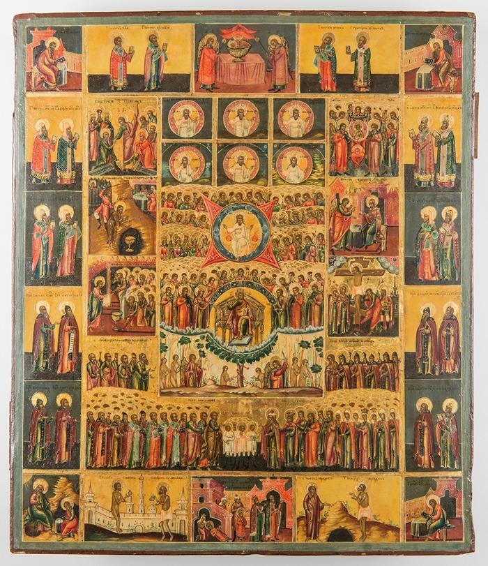 икона сотворение мира шестеднев
