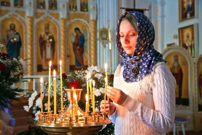 посещение церкви во время месячных